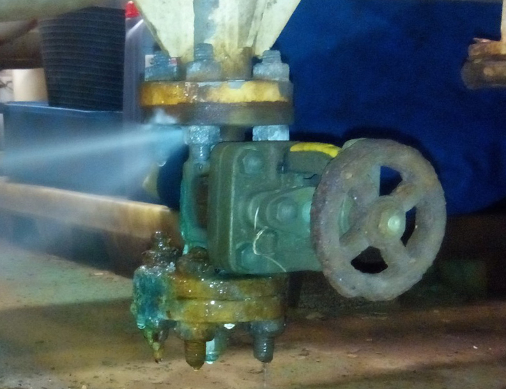 Leak Sealing Services : ″ leaking valve body metalyte pipeworks
